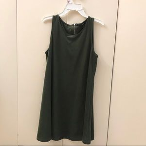 Olive green mini dress